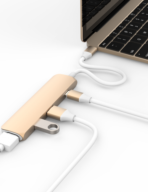 HYPERDRIVE USB TYPE-C HUB WITH 4K HDMI SUPPORT (FOR 2016 MACBOOK PRO & 12″ MACBOOK)'