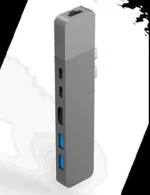 CỔNG CHUYỂN HYPERDRIVE NET 6-IN-2 HUB FOR USB-C MACBOOK PRO 13″15″ 2016/2017/2018