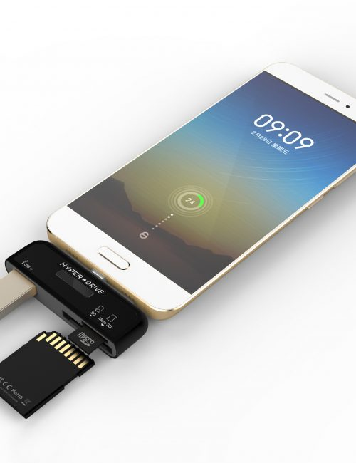 HYPERDRIVE 3-IN-1 CONNECTION KIT FOR USB TYPE-C SMARTPHONE, 2016 MACBOOK PRO & 12″ MACBOOK