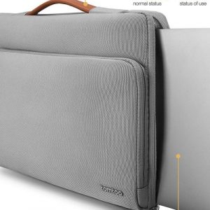 "TÚI XÁCH CHỐNG SỐC TOMTOC (USA) BRIEFCASE MACBOOK PRO 13"" NEW GRAY"